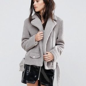 Missguided Faux Shearling Jacket